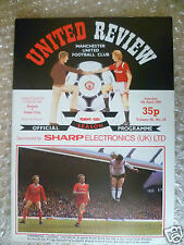 1985 MANCHESTER UNITED v STOKE CITY, 6 April(League Division One)