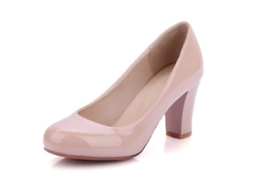 PLUS SIZE Fashion Red White Classic High Heel Women Pumps Casual Office Shoes