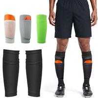 Sport Soccer Leg Shin Pads Guard Socks Football Calf Sleeves with Pocket Guard a