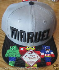 Marvel Comics Spider-Man Captain America Hulk Thor Adjustable Hat GRAY - Letters