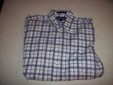 Paul Fredrick Men's Medium 15.5 34/35 Gray Plaid Button Front Shirt EUC