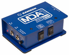 Samson S-Max MDA1 Active Mono Direct DI Box,18Hz–35kHz, Battery or phantom power