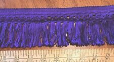 """New Old Store VINTAGE COTTON PURPLE 3"""" Knotted Fringe Trim BY THE YARD"""