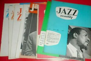 NINE ISSUES OF JAZZ MONTHLY. 1961 / 1963 , SARAH VAUGHAN . LUCKY THOMSON.