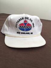 Fitterer Oil Co Inc Amoco New England ND Trucker Hat Cap White