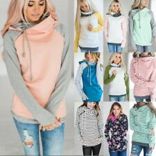 Plus size Womens Warm Hoodie Sweatshirt Lady Hooded Sweater Coat Jumper Pullover
