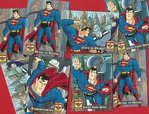 SUPERMAN ACTION PACKS - 1996 SKYBOX PUZZLES TRADE CARDS - PICK YOUR CARD (NM04)