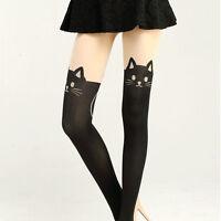 Women Sexy Cat Cute Tail Gipsy Mock Knee High Socks Hosiery Tattoo Stockings New