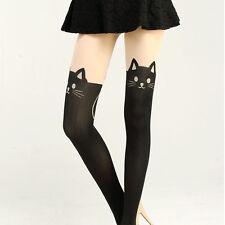 Women Cat Cute Tail Gipsy Mock Knee High Socks Hosiery Tattoo Stockings Pop.
