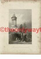 Cenotaph of Burns, Alloway, Bartlett, R Burns Book Illustration (Print), c1840