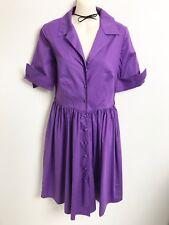 RUBY BY LEONA EDMISTON PURPLE SHIRT DRESS SZ 1 (10)