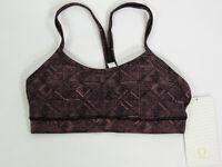 Lululemon Flow Y Bra IV Lux Stripe Women's Size 4 XS NWT