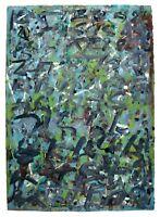 Wolfgang E. Biedermann. große Mischtechnik, 1987 signiert DDR Kunst Öl Papier