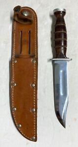 Vintage Ka-Bar Fixed Blade Knife with Sheath