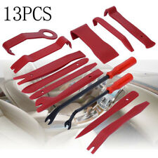 13pc Car Door Dash Audio Radio Panel Trim Install Open Removal Pry Tools Red Kit