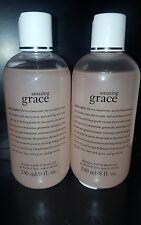 Philosophy Amazing Grace Shampoo, Bath & Shower Gel 8oz X2 + BONUS