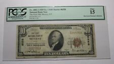 $10 1929 Murray Utah UT National Currency Bank Note Bill #6558 FINE PCGS Graded
