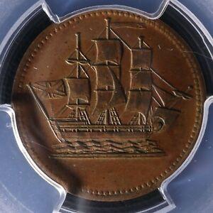 PE-10-7 PCGS MS-62 Ships Colonies & Commerce token PEI Canada SCC-7 Breton 997