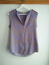 Collective Concepts Heart Patterned Sleeveless Top Size XS