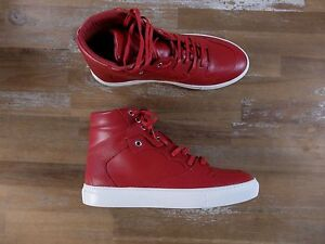 BALENCIAGA Paris red leather high sneakers authentic - Size 8 US / 41 EU / 7 UK
