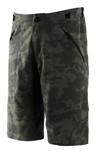 Troy Lee Designs Mens Skyline Shorts SHELL No-Liner - Camo Green - MTB/Bicycle