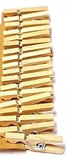 18  Mini Wood Pegs Craft Wedding Hanging Photo Clips Wooden