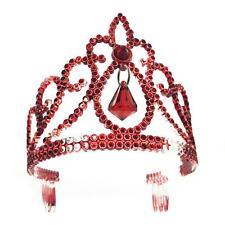 Adult Ladies Red Jewelled Zombie Princess Tiara Halloween Fancy Dress Accessory