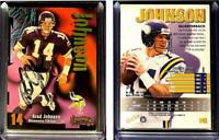 Brad Johnson Signed 1998 SkyBox Thunder #149 Card Minnesota Vikings Auto Autogra