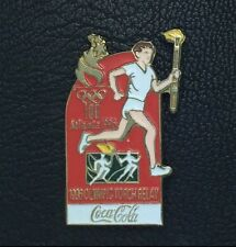 1996 Olympic Torch Relay~Coke Olympic Pin Badge~Sponsor~Atlanta~Coca-Cola