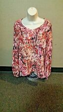Milano Blouse Top Slit Sleeve Cold Shoulder Womens Longsleeve XL New Tags