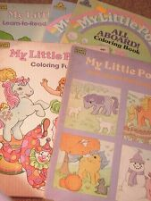 My little pony Vintage G1 Merchandise: USED coloring book lot of 5