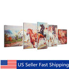 5pcs Running Horse Print Art Painting Canvas Unframed Wall Picture Poster