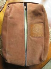 Suede Shearling Lined Golf Shoe Bag  Fossil Creek Golf Club TX Fort Worth