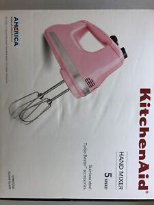 New KitchenAid Pink (Guava Glaze) 5 Speed Turbo Beater 5 Speed Hand Mixer