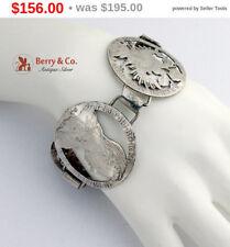 SaLe! sALe! Wide Coin Bracelet Antique Austrian Silver Coins
