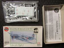 Airfix YAKOVLEV YAK-3 Series 2 WW2 1/72 Scale Airplane Aircraft Model Kit