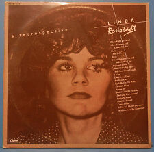 LINDA RONSTADT A RETROSPECTIVE 2X LP 1977 ORIGINAL PRESS GREAT COND! VG++/VG!!
