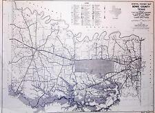 Old Original Bowie County Texas Highway Dept Map 1961 Texarkana Boston De Kalb