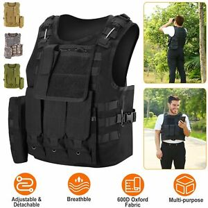 Tactical Vest Military Airsoft Paintball Vest Plate Camouflage Combat  Hunting