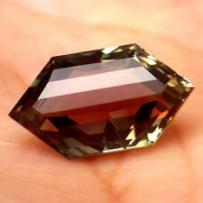 "GREEN RED TEAL ""MYSTIQUE"" SCHILLER OREGON SUNSTONE 4.57Ct FLAWLESS-INVESTMENT"