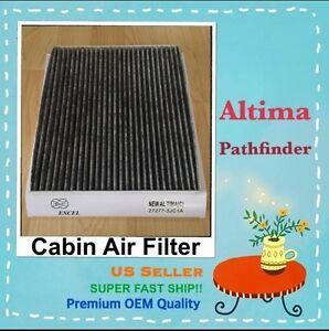 Carbonize Cabin Air Filter For New NISSAN Altima Pathfinder Murano 27277 3JC1A