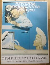 Original 1980  French Exhibition Poster Norman Rockwell Flirt Image Americana