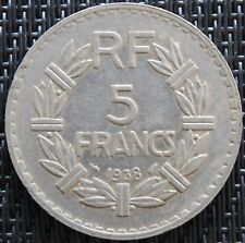 FRANCE 5 FRANCS LAVRILLIER 1938 NICKEL