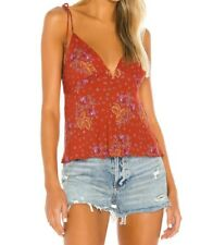 Free People Float Away Printed Cami Top - Size S , BNWT
