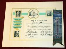 Vintage Eatons Canada Certificate Signed RY Eaton 1930 Silver Anniversary Ribbon