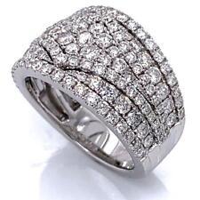 2.18 TCW Round Diamonds Wedding Anniversary Ring Band 14k White Gold Size 6.75