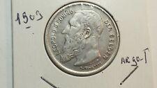 BELGIQUE : 2 francs 1909 LEOPOLD II TTB