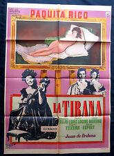 "PAQUITA RICO ""LA TIRANA"" LA MAJA DESNUDA GOYA SEXY MEXICAN MOVIE POSTER 1959"