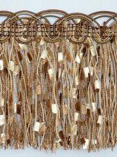 "4 1/4"" Elegant Confetti Tassel Fringe Trim Brown Wholesale 50 Yards"