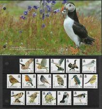 alderney 2020 Definitives Bird aves vogel oiseaux OWL SHAG PUFFIN ROBIN 16v PACK